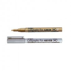 Pulpen Artline Calligraphy 2.5 Gold Silver